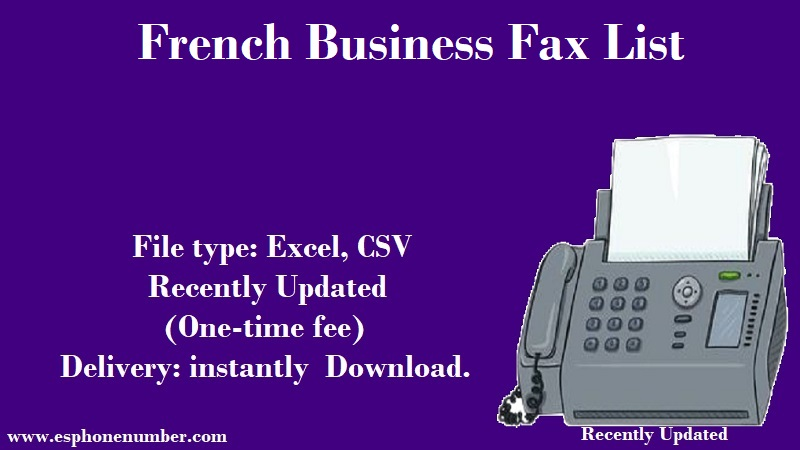 French Business Fax List