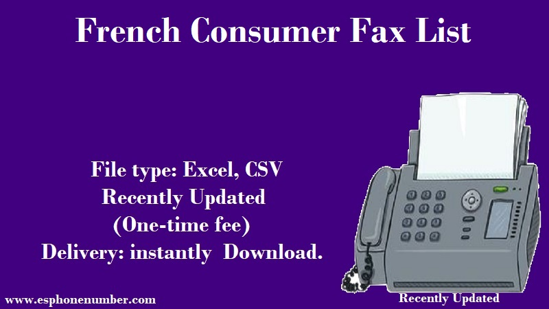 French Consumer Fax List