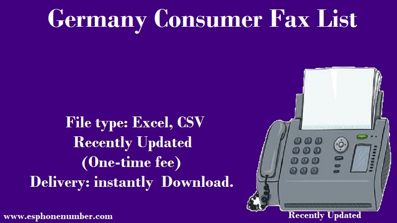 Germany Consumer Fax List